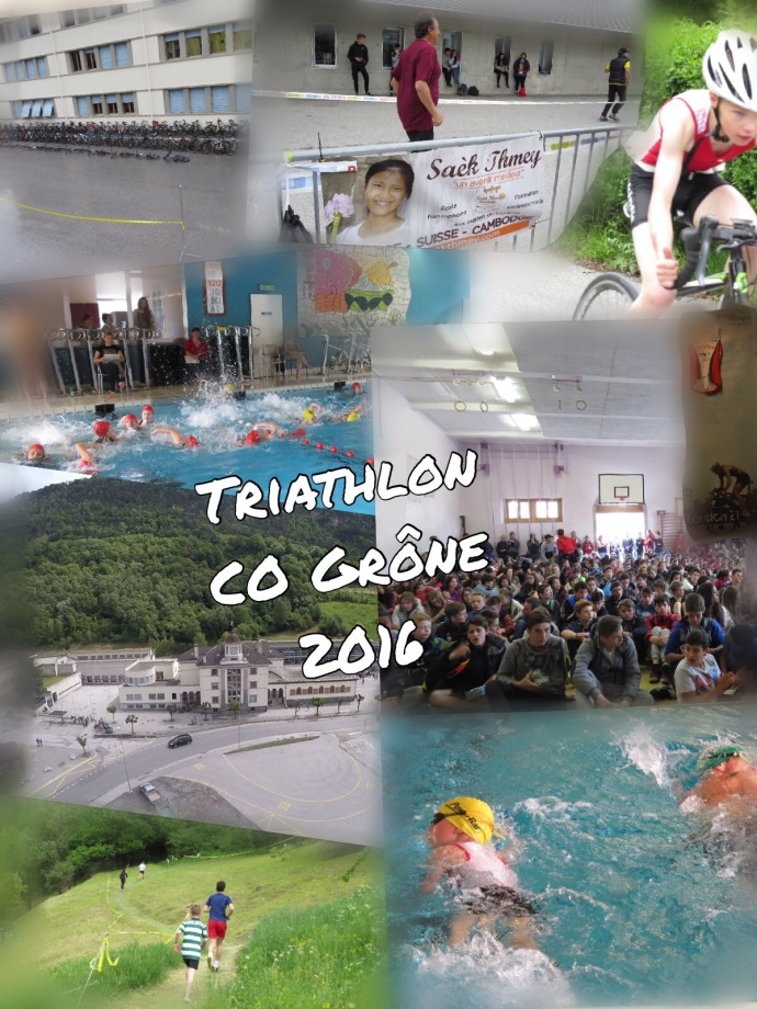 Pic collage montage triathlon 2016